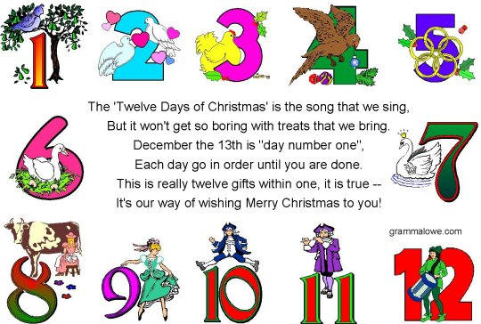 Eric Shackle's eBook - Artists love the 12 Days of Christmas